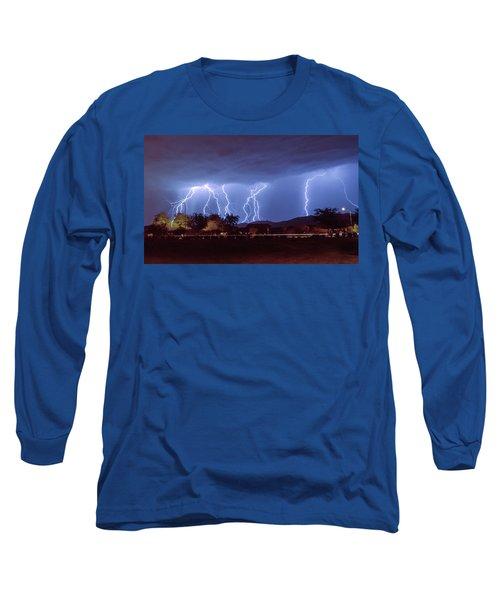 Lightning Over Laveen Long Sleeve T-Shirt