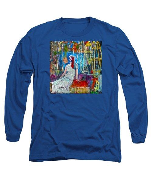 Lights Long Sleeve T-Shirt by Barbara O'Toole