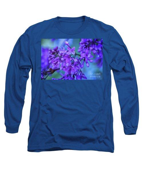 Lilac Blues Long Sleeve T-Shirt by Elizabeth Dow