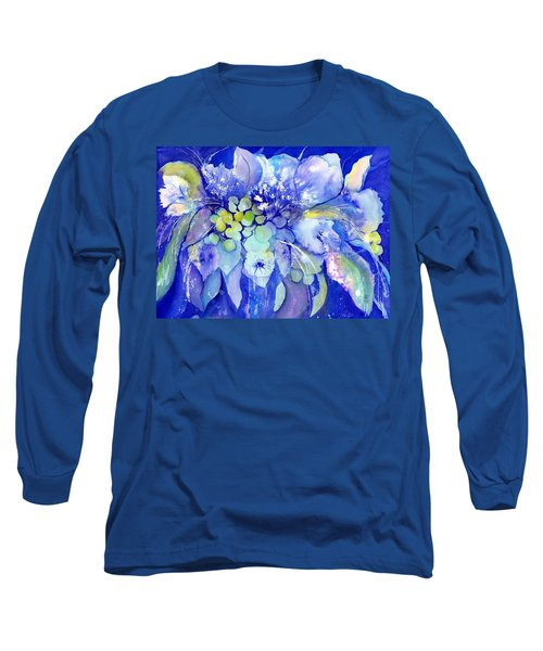 Lilac Flowers With Berries Long Sleeve T-Shirt