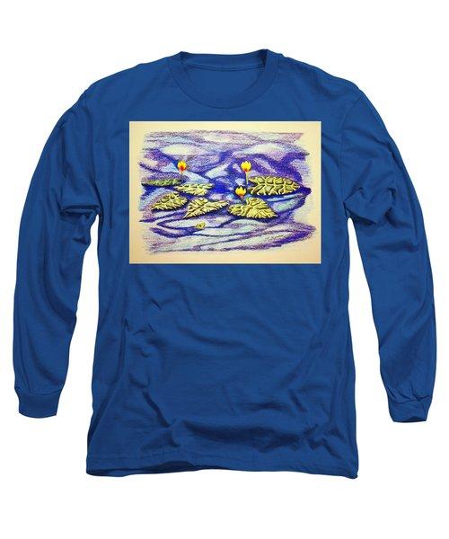 Lily Pad Pond Long Sleeve T-Shirt by J R Seymour