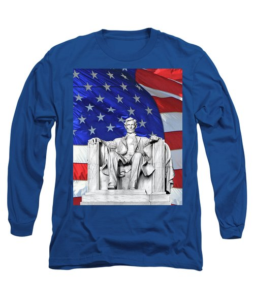 Long Sleeve T-Shirt featuring the photograph Lincoln America by Christopher McKenzie