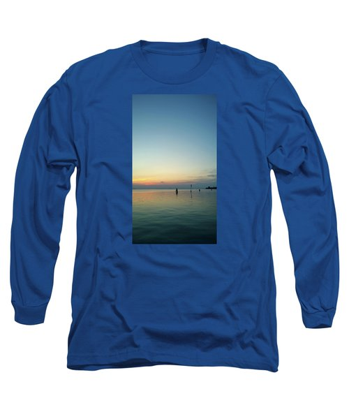 Long Sleeve T-Shirt featuring the photograph Liquid Sunset by Anne Kotan
