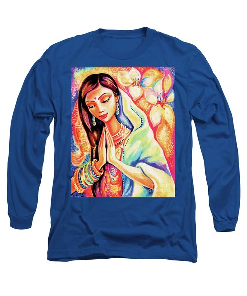 Long Sleeve T-Shirt featuring the painting Little Himalayan Pray by Eva Campbell