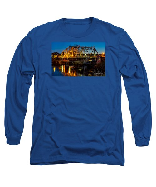 Little River Swing Bridge Long Sleeve T-Shirt by David Smith