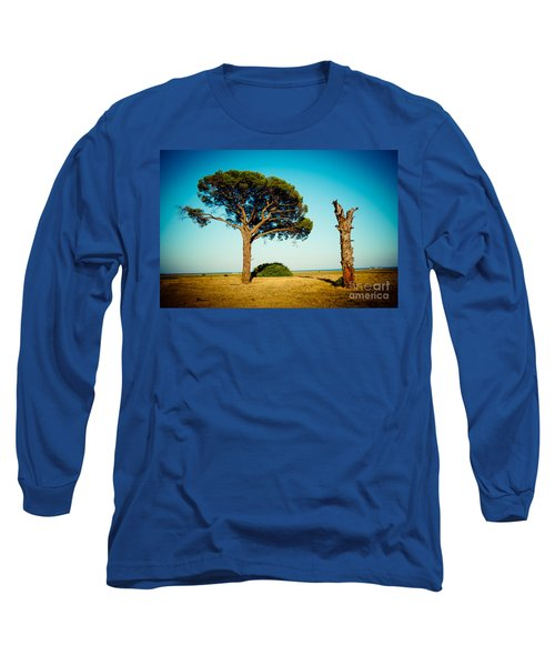 Live And Dead Tree At Seacoast Long Sleeve T-Shirt