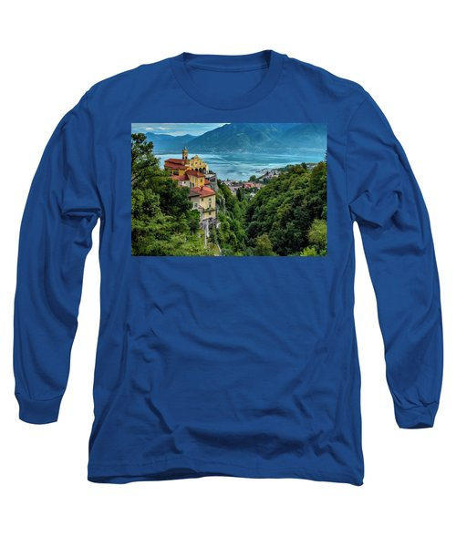 Long Sleeve T-Shirt featuring the photograph Locarno Overview by Alan Toepfer