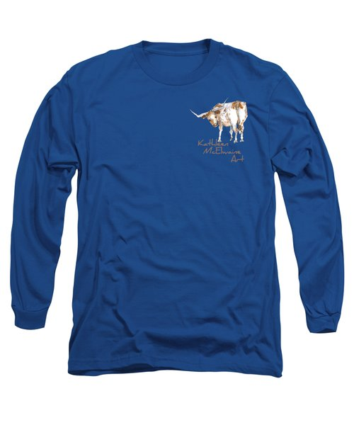 Logo Longhorn For Shirt Pocket Long Sleeve T-Shirt