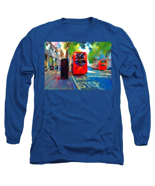 London Bus Stop Long Sleeve T-Shirt