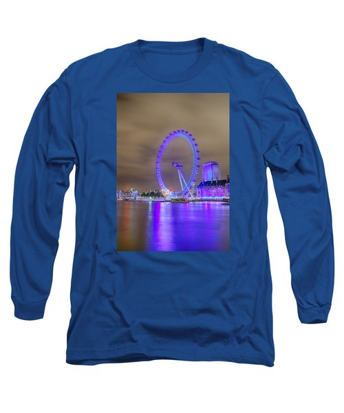 London Cityscape At Night 5x7 Long Sleeve T-Shirt