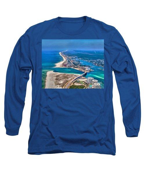 Looking West Across Perdio Pass Long Sleeve T-Shirt