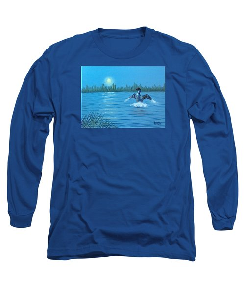 Loon Dance Long Sleeve T-Shirt by Brenda Bonfield