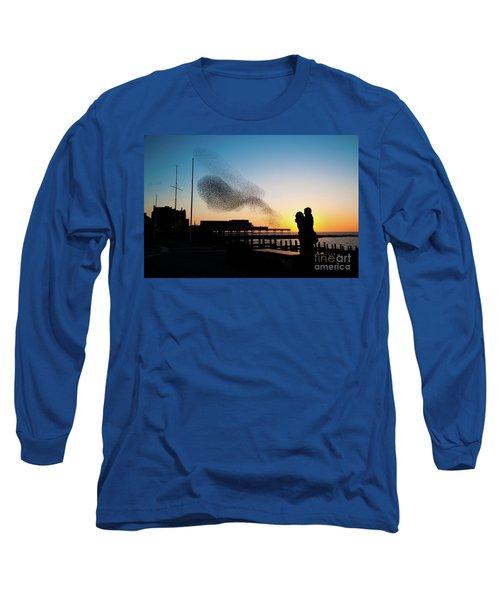 Love Birds At Sunset Long Sleeve T-Shirt