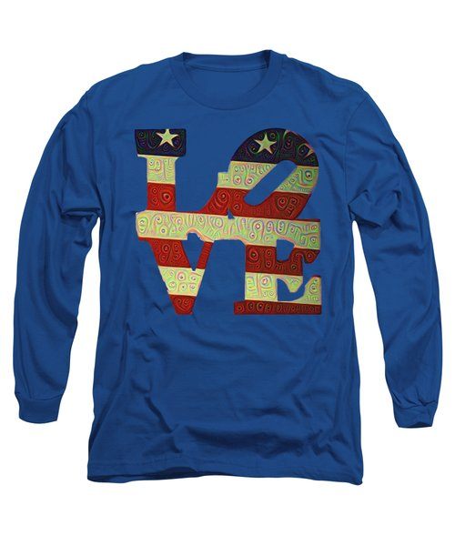 Long Sleeve T-Shirt featuring the painting Love The Usa by Bill Cannon
