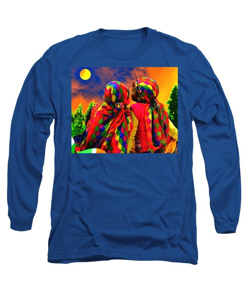 Long Sleeve T-Shirt featuring the digital art Loveliness by Bliss Of Art