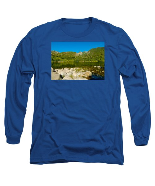 Lower Bells Canyon Reservoir Long Sleeve T-Shirt by Dan Miller