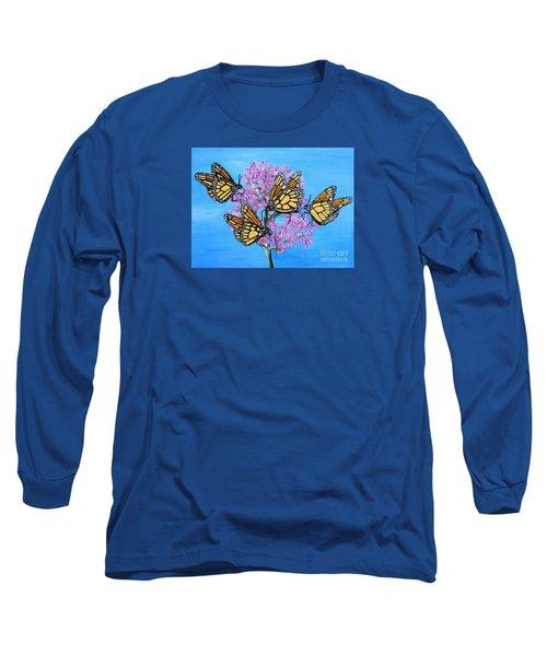 Butterfly Feeding Frenzy Long Sleeve T-Shirt