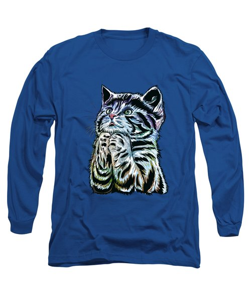 Long Sleeve T-Shirt featuring the painting Lunch Time. by Andrzej Szczerski