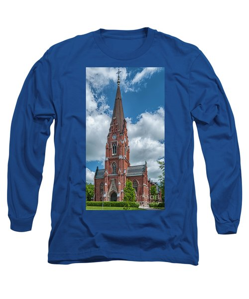 Long Sleeve T-Shirt featuring the photograph Lund All Saints Church by Antony McAulay