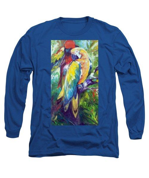 Macaw Pair Long Sleeve T-Shirt by Marcia Baldwin