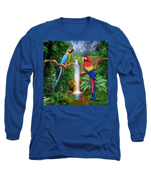 Macaw Tropical Parrots Long Sleeve T-Shirt