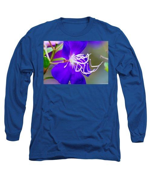Macro Clematis Long Sleeve T-Shirt by Warren Thompson