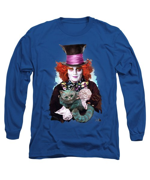 Mad Hatter And Cheshire Cat Long Sleeve T-Shirt