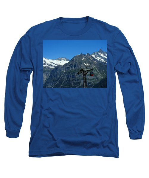 Maennlichen Gondola Calbleway, In The Background Mettenberg And Schreckhorn Long Sleeve T-Shirt