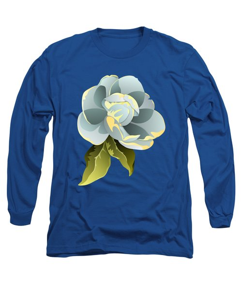 Magnolia Blossom Graphic Long Sleeve T-Shirt