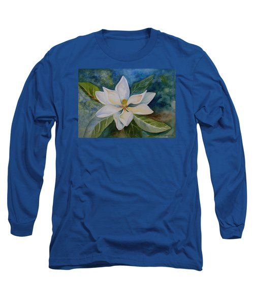 Magnolia Long Sleeve T-Shirt by Kerri Ligatich
