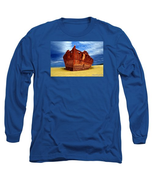 Maheno Shipwreck Fraser Island Queensland Australia Long Sleeve T-Shirt