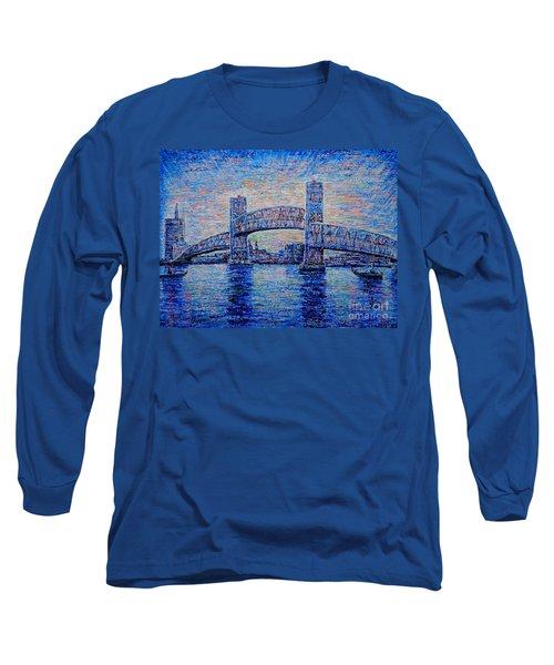 Long Sleeve T-Shirt featuring the painting Main St.bridge,#2 by Viktor Lazarev