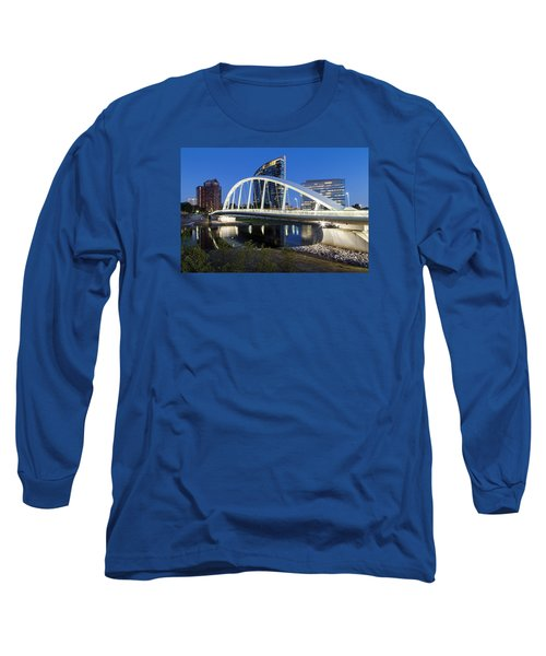 Main Street Bridge Columbus Long Sleeve T-Shirt by Alan Raasch