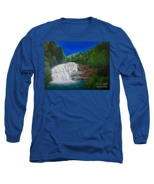 Majestic Bald River Falls Of Appalachia II Long Sleeve T-Shirt by Kimberlee Baxter