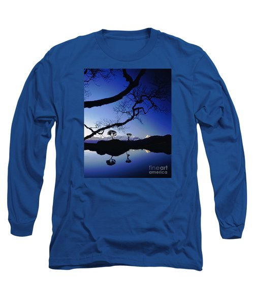 Long Sleeve T-Shirt featuring the photograph Makalu Nepal At Sunset by Rudi Prott