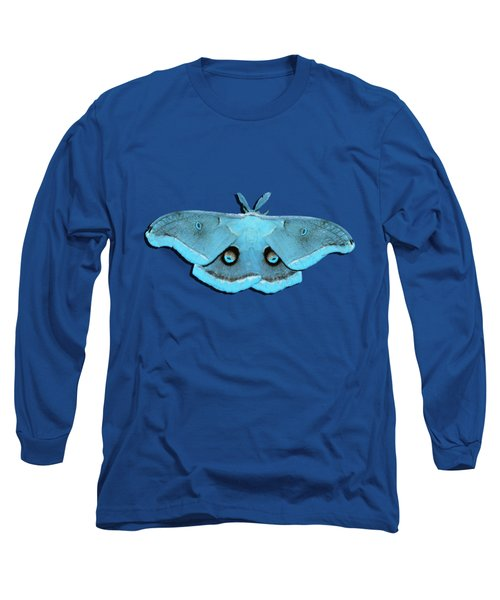 Male Moth Aqua .png Long Sleeve T-Shirt by Al Powell Photography USA