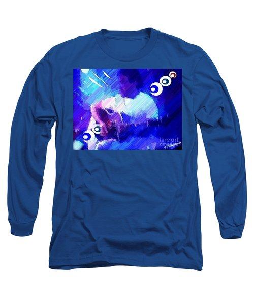 Man With A Guitar Long Sleeve T-Shirt