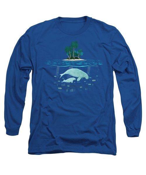 Manatee Island Long Sleeve T-Shirt