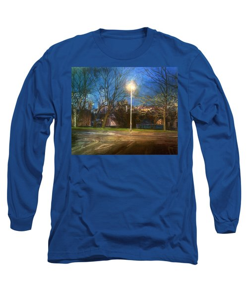 Manchester Street With Light And Trees Long Sleeve T-Shirt