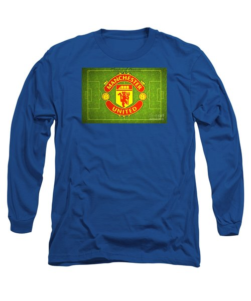 Manchester United Theater Of Dreams Large Canvas Art, Canvas Print, Large Art, Large Wall Decor Long Sleeve T-Shirt by David Millenheft