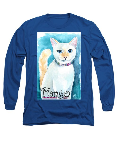 Mango - Flame Point Siamese Cat Painting Long Sleeve T-Shirt