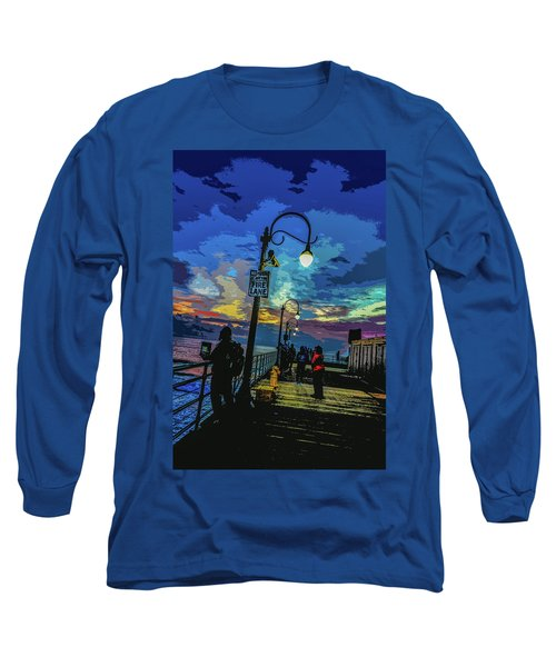 Marine's Silhouette  Long Sleeve T-Shirt