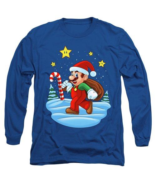 Mario Xmas Long Sleeve T-Shirt