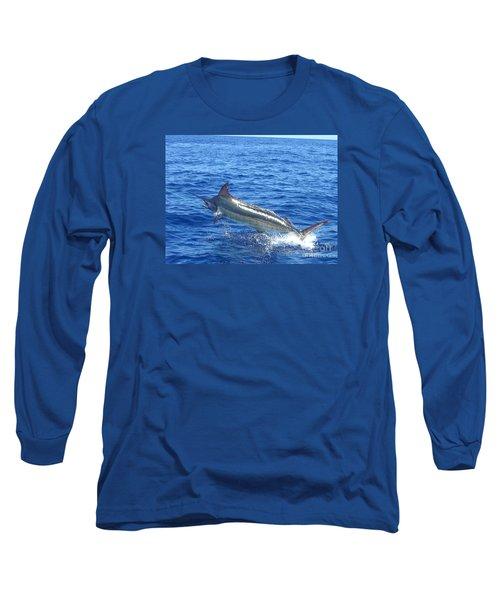 Marlin On The Line Long Sleeve T-Shirt by Merton Allen