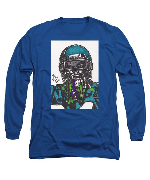 Marshawn Lynch 1 Long Sleeve T-Shirt by Jeremiah Colley