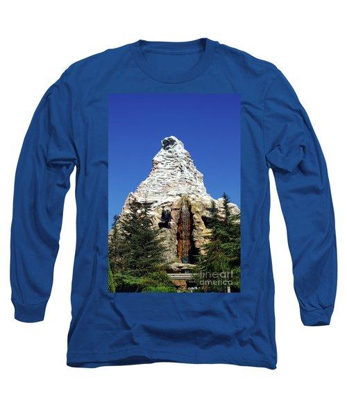 Matterhorn Disneyland Long Sleeve T-Shirt by Mariola Bitner