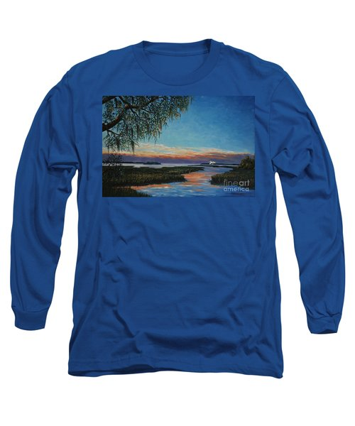 May River Sunset Long Sleeve T-Shirt by Stanton Allaben