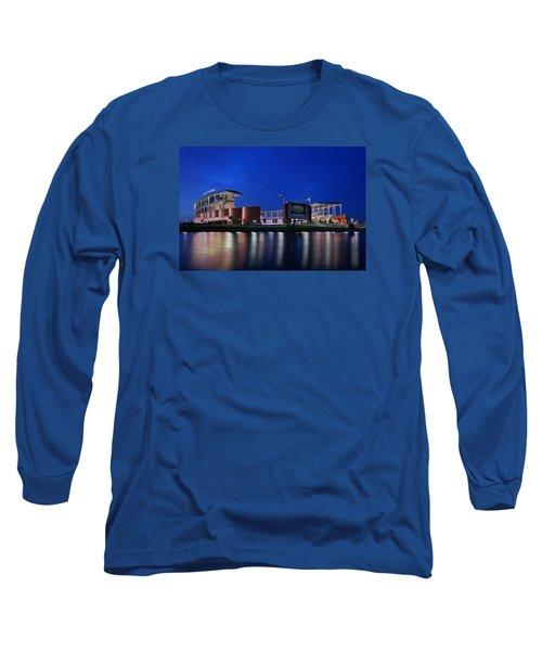 Mclane Stadium Evening Long Sleeve T-Shirt by Stephen Stookey
