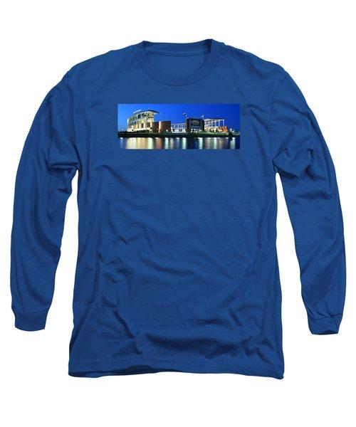 Mclane Stadium Panoramic Long Sleeve T-Shirt by Stephen Stookey