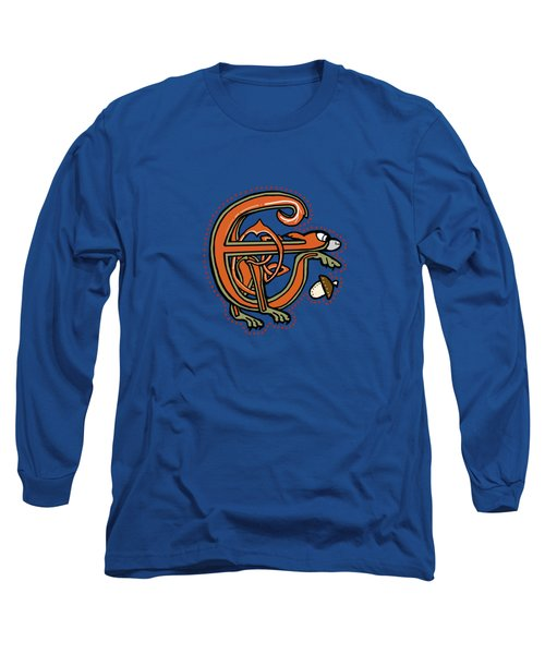 Medieval Squirrel Letter E Long Sleeve T-Shirt